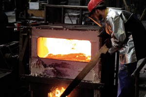 Copper casting part process Durville