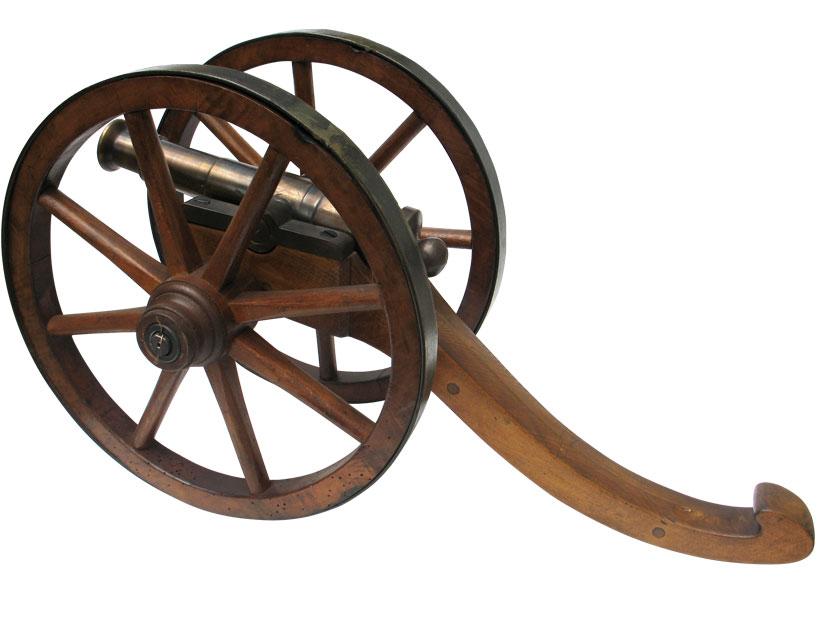 Réplique de canon en bronze