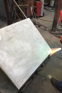 Projection d'étain partie latérale